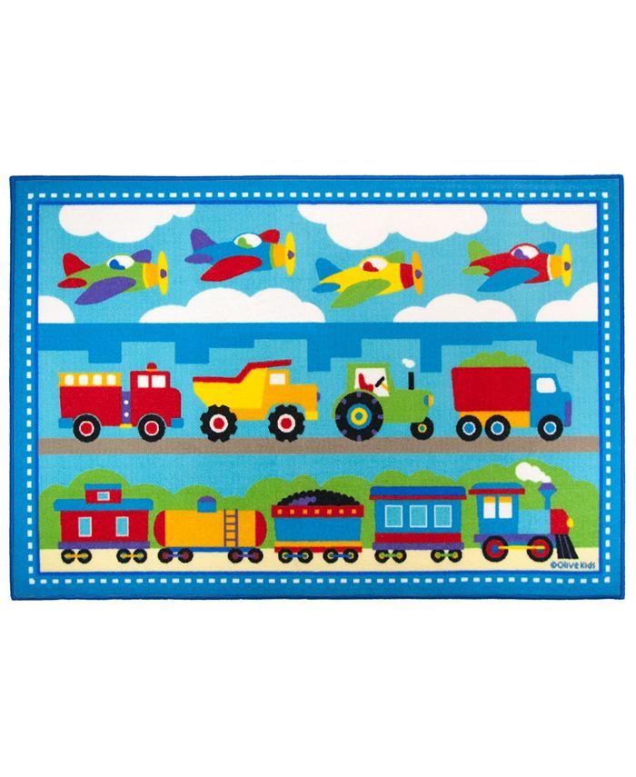 Wildkin - Trains, Planes, Trucks 39x58 Rug