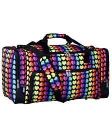 Rainbow Hearts Weekender Duffel Bag