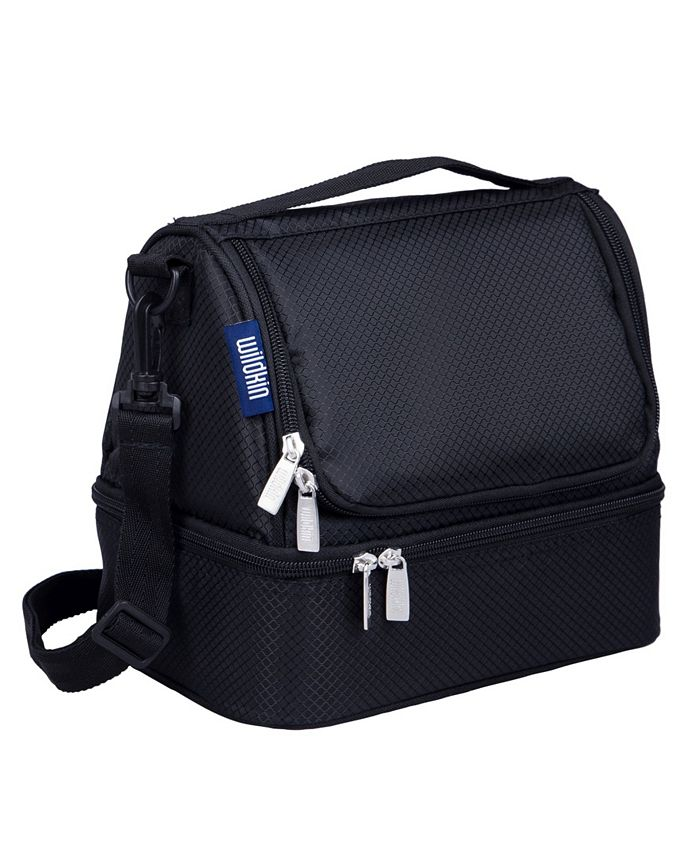 Wildkin - Rip-Stop Black Two Compartment Lunch Bag