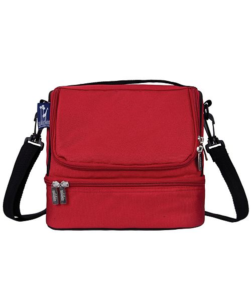 Wildkin Cardinal Red Two Compartment Lunch Bag