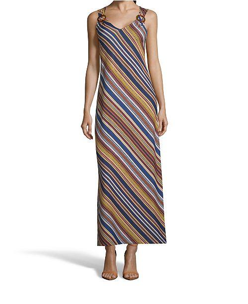 John Paul Richard Striped Maxi Dress