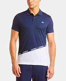 Men's Colorblocked Polo Shirt with Logo Taping