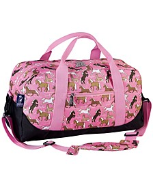 Horses In Pink Overnighter Duffel Bag