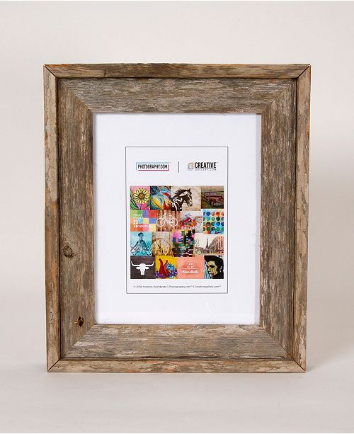 """Creative Gallery Rustic Reclaimed Barnwood 8"""" x 10"""" Picture Photo Frame"""