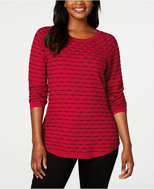 Karen Scott Textured Sweater, Created for Macy's