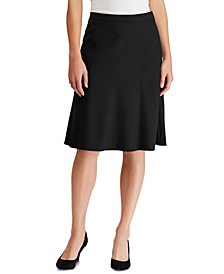Stretch-Knit Fit & Flare Skirt