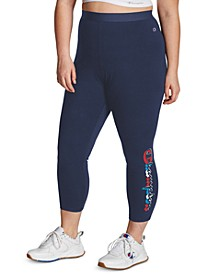 Plus Size Graphic-Print Active Leggings