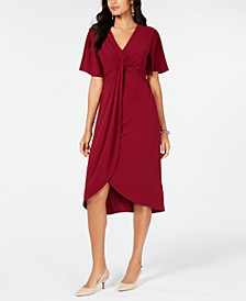 Twist-Front High-Low Hem