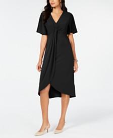 Alfani Twist-Front High-Low Hem Dress, Created for Macy's