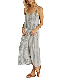 Juniors' Cropped Wide-Leg Jumpsuit