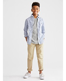 Polo Ralph Lauren Big Boys Poplin Sport Shirt, Crewneck T-Shirt & Chino Pants