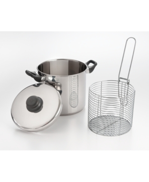Cookpro 6 Qt Stainless Steel Stovetop Deep Fryer with Encapsulated Base