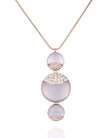 Frosted Lucite Pendant Necklace