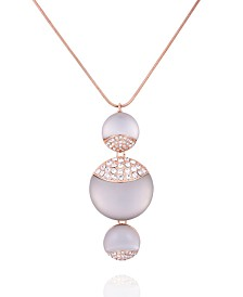 T Tahari Frosted Lucite Pendant Necklace