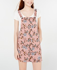 Tinseltown Juniors' Blush Floral Skirtall