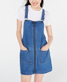 Tinseltown Juniors' Zip-Front Pinafore