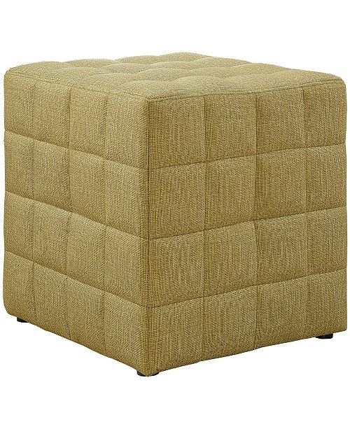Monarch Specialties Gold Polyester Ottoman