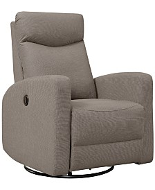 Monarch Specialties Polyester Power Swivel Glider Recliner