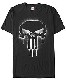 Men's Punisher The Punisher Spray Paint Skull Logo Short Sleeve T-Shirt
