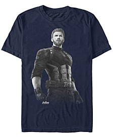 Men's Avengers Infinity War Captain America String Stare Short Sleeve T-Shirt