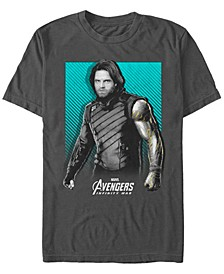 Men's Avengers Infinity War Bucky War Pose Short Sleeve T-Shirt