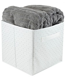 HDS Trading Metallic Curlz Collapsible Non-Woven Storage Cube