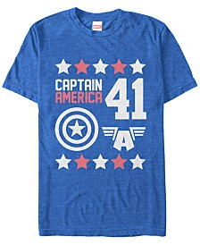 Marvel Men's Comic Collection Captain America Logo Short Sleeve T-Shirt