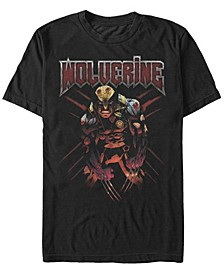 Men's Classic X-Men Angry Wolverine, Short Sleeve T-Shirt