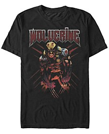 Marvel Men's Comic Collection X-Men Wolverine Fierce Stance Short Sleeve T-Shirt