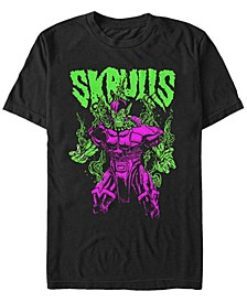 Men's Comic Collection Neon Steaming Skrull Short Sleeve T-Shirt