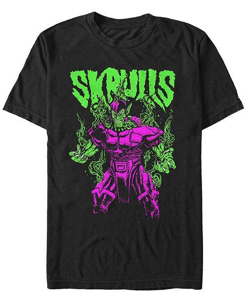 Marvel Men's Comic Collection Neon Steaming Skrull Short Sleeve T-Shirt