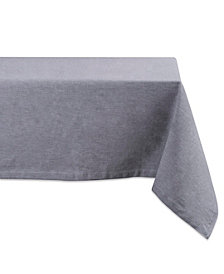 """Solid Chambray Tablecloth 60"""" x 104"""""""