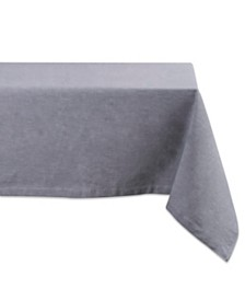"Solid Chambray Tablecloth 60"" x 104"""