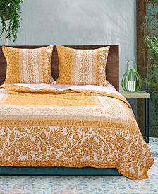 Greenland Home Fashions Mykonos Quilt Set, 3-Piece King