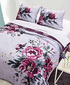 Greenland Home Fashions Rose Touch Quilt Set, 3-Piece Full/Queen