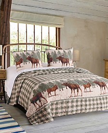 Greenland Home Fashions Moose Creek Quilt Set, 3-Piece Full/Queen