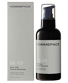 All-In-One Toner and Moisturizer for Men, 5.07 oz