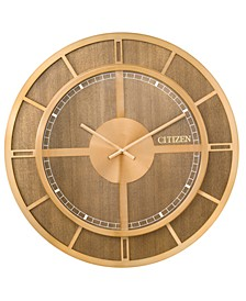 Gallery Wood & Gold-Tone Wall Clock