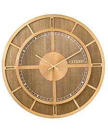 Gallery Wood & Gold-Tone Wall Clock