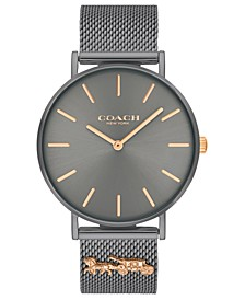 Women's Perry Gray Stainless Steel Mesh Bracelet Watch 36mm
