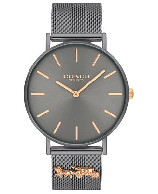 Women's Perry Gray Stainless Steel Mesh Bracelet Watch 36mm by General