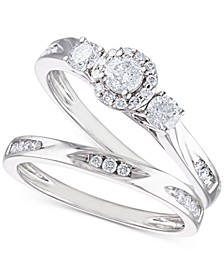 Certified Diamond Bridal Set (5/8 ct. t.w.) in 14k White Gold