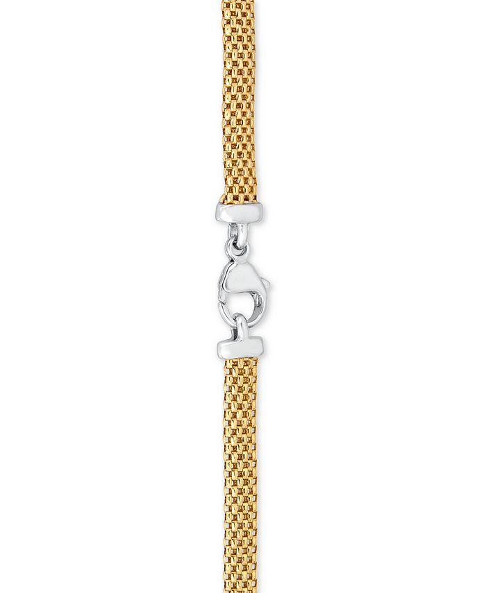 Macy's - Diamond Heart Necklace in 14k Gold Vermeil and Sterling Silver (1/8 ct. t.w.)