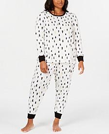 Matching Plus Size Tree-Print Pajama Set, Created For Macy's