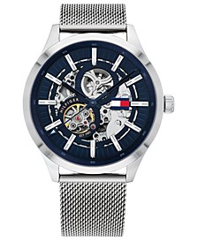 Men's Automatic Stainless Steel Mesh Bracelet Watch 44mm, Created for Macy's