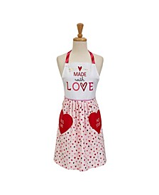 Made with Love Print Skirt Apron