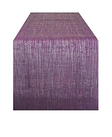 Design Imports Space-Dyed Vinyl Table Runner 13 x 72""