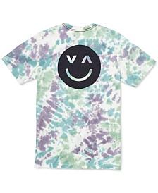 RVCA Men's Happy Sad Tie-Dyed Graphic T-Shirt