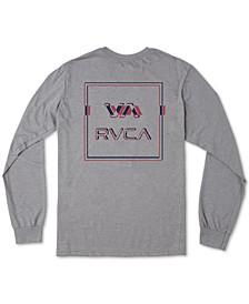 Men's Big Glitch Logo Long Sleeve T-Shirt