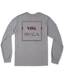 RVCA Men's Big Glitch Logo Long Sleeve T-Shirt